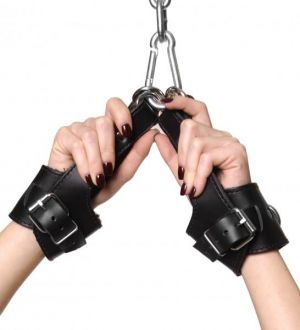 Strict Leather Fleece Lined Suspension Cuffs Black