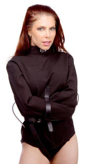 Strict Leather Black Canvas Strait Jacket X-Large