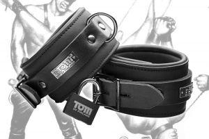 Tom Of Finland Neoprene Ankle Cuffs Black