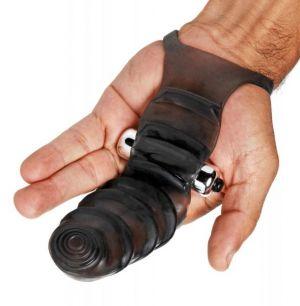 Bang Bang G-Spot Vibrating Finger Glove Black