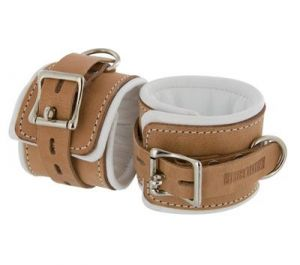 Leather Padded Hospital Style Restraints Brown Ankle