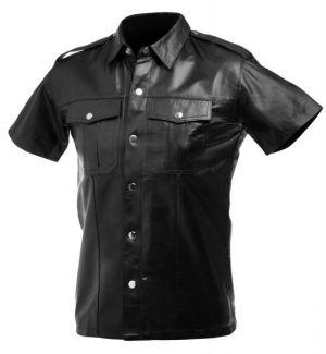 Lambskin Leather Police Shirt - XL