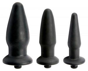 Trinity Silicone Vibrating Butt Plug Kit