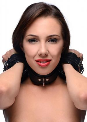 Strict Neck To Wrist Restraint Black Leather