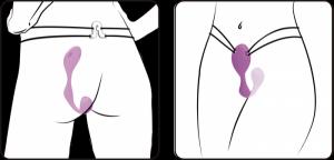 Adrien Lastic Mr Hook Hands Free Strap On Purple