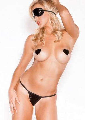 Heartbreaker Blindfold, G-String, Pasties OS