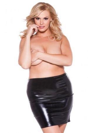 Kitten Sexy Siren Skirt O/S XL Black