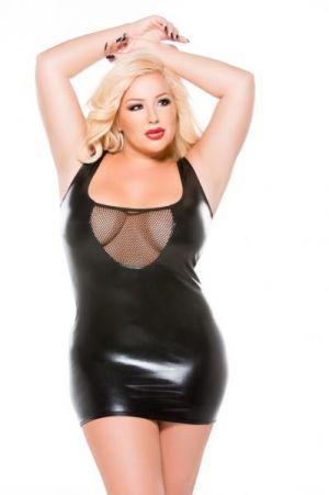 Kitten Tank Dress O/S Plus Black