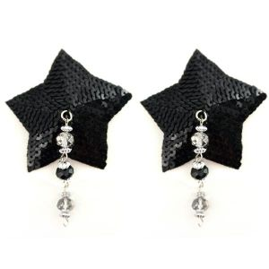 Bijoux Nipple Covers Sequin Star Faceted Beads