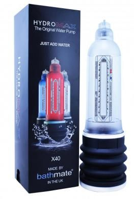 Hydromax X40 Penis Pump - Clear