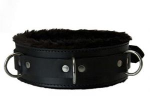 Strict Leather Premium Fur Lined Locking Collar S/M