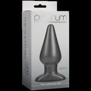 The Super Big End Charcoal Butt Plug