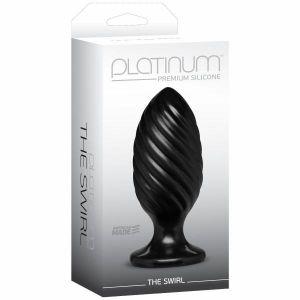 The Swirl Black Butt Plug