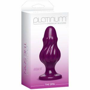 Platinum Premium Silicone The Spin Purple Butt Plug