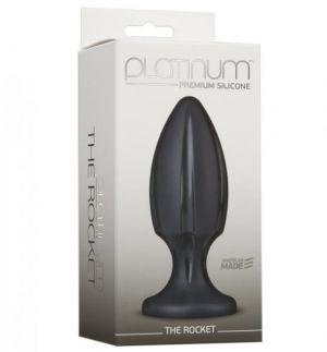 Platinum The Rocket Black Butt Plug