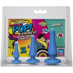 American POP!  Launch Blue Anal Trainer Set