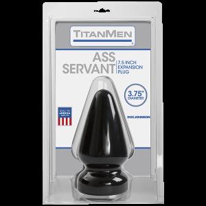 Titanmen Ass Servant Plug Black
