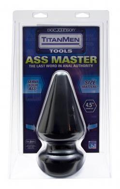 Titanmen Ass Master Butt Plug 4.5 Inches Black