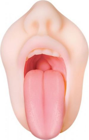 Real Mouth Stroker with Tongue Deep Throat Feel