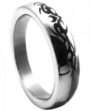 "Metal C Ring 1.75"" Stainless Steel Tribal Design"