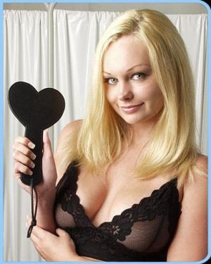 Heart Paddle Black Leather