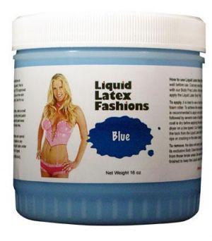Liquid Latex Body Paint Solid Blue 16oz