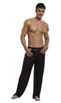 Pants Knit Silk Black Large