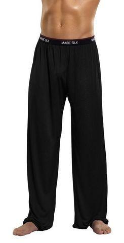 Pants Knit Silk Black