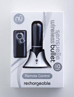 Sensuelle Rechargeable Remote Control 10 Function Bullet Black