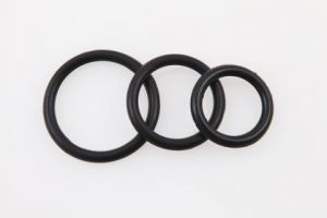 Perfect Fit 3Pc Ring Kit Black Silicone