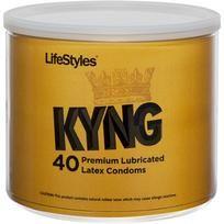 Lifestyles Kyng Latex Condoms 40 Piece Bowl