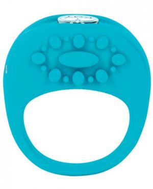 Ela Rechargeable Vibrating Silicone Ring Waterproof - Blue