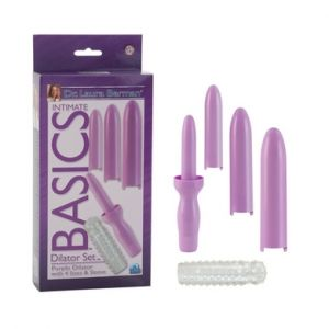 Dr. Laura Berman Intimate Basics - Dilator Set Purple Dilator with 4 Sizes & Sleeve