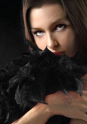 Ouch Seductive Feather Boa Black