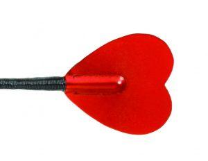 25.5in Red Metallic Heart Bat
