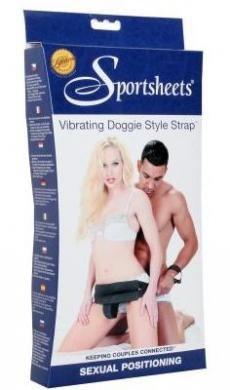 Vibrating Doggie Style Strap