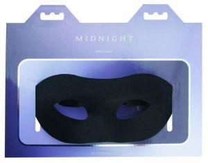 Midnight Satin Mask Black O/S