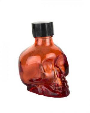 Liquid Latex Sparkle Body Glitter Red Skull 1oz