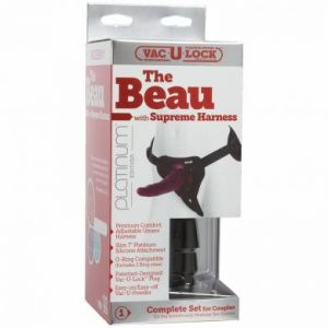 Vac U Lock Platinum The Beau Cock Attachment Silicone Grey 7 Inch