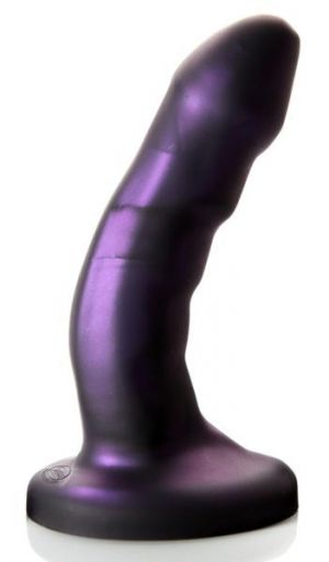 Curve Silicone Dildo 6 inches Midnight Purple
