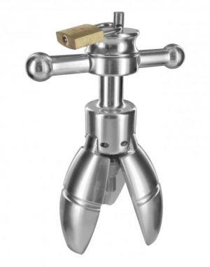 Trillium Metal Locking Anal Plug