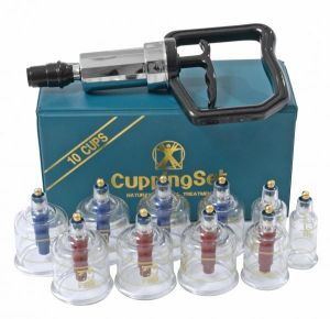 Cupping Set With Acu-Points 10 Cups Clear