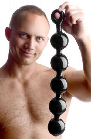 Black Baller Anal Beads - Bulk