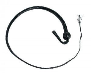 3 Foot Snake Whip 12 Plait Black