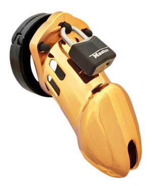 CB-6000 Designer Gold Edition Male Chastity Cage