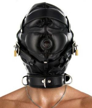 Strict Leather Sensory Deprivation Hood- S/M
