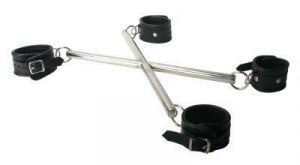 Strict Leather X-hog Tie Spreader Bar With Restraints