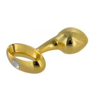 Gold Prostate Plug With Diamond Gem