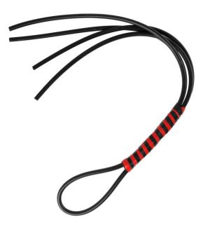 Heavy Duty Silicone Flogger Black