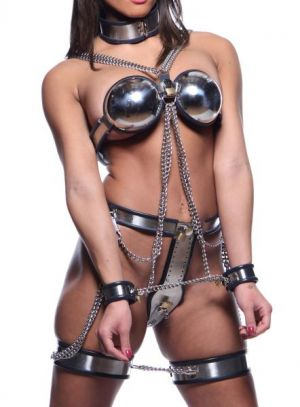 Female Chastity Full Body Steel Bondage Restraints